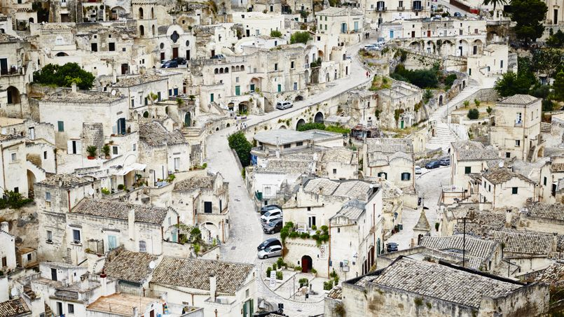 View of Matera, Basilicata, Italy